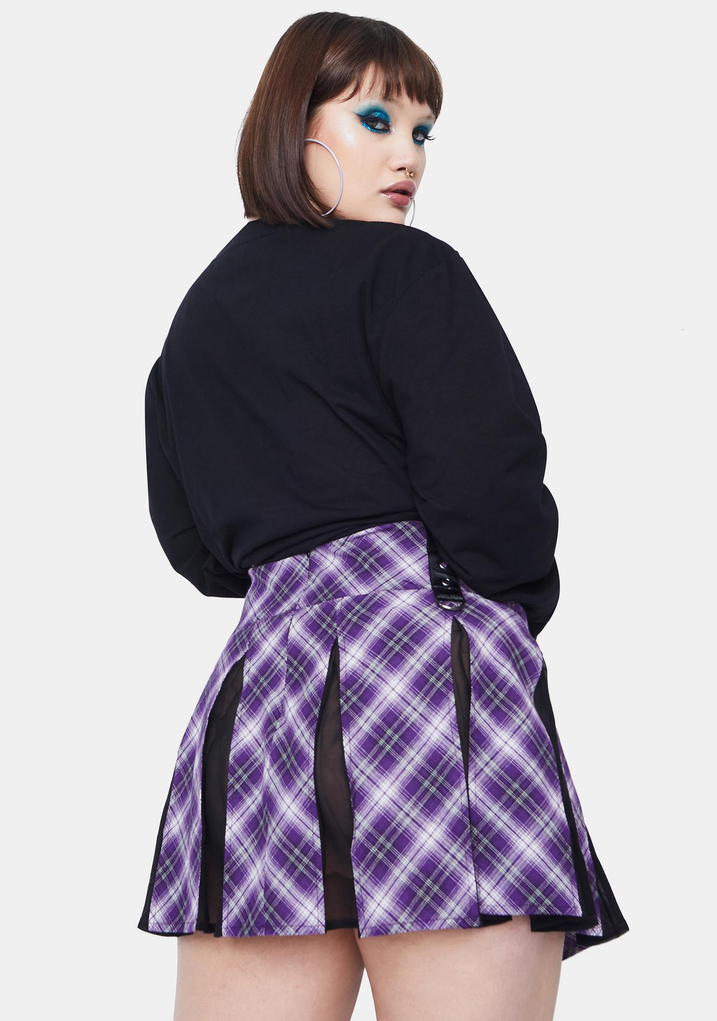 HOROSCOPEZ My Intuition On Point Plaid Mini Skirt