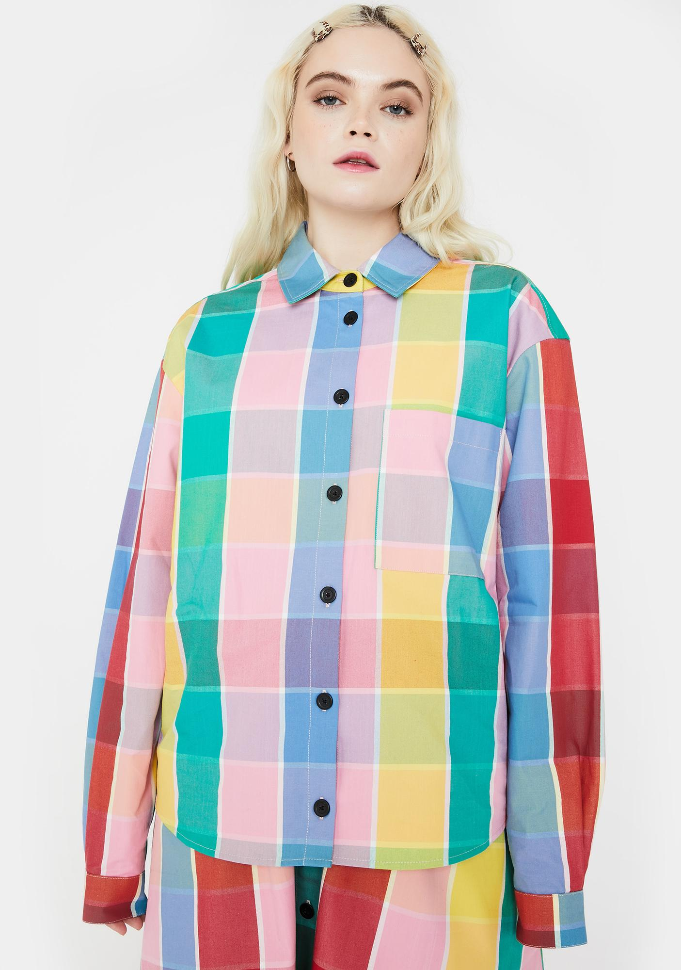 Lazy Oaf Golden Years Check Shirt