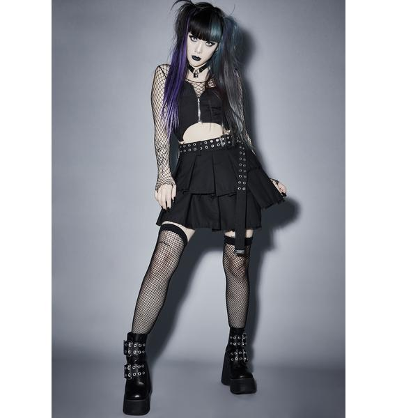 Widow Wicked Fright Night Mini Skirt