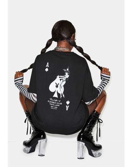 Playboy Ace Of Spades Graphic Tee