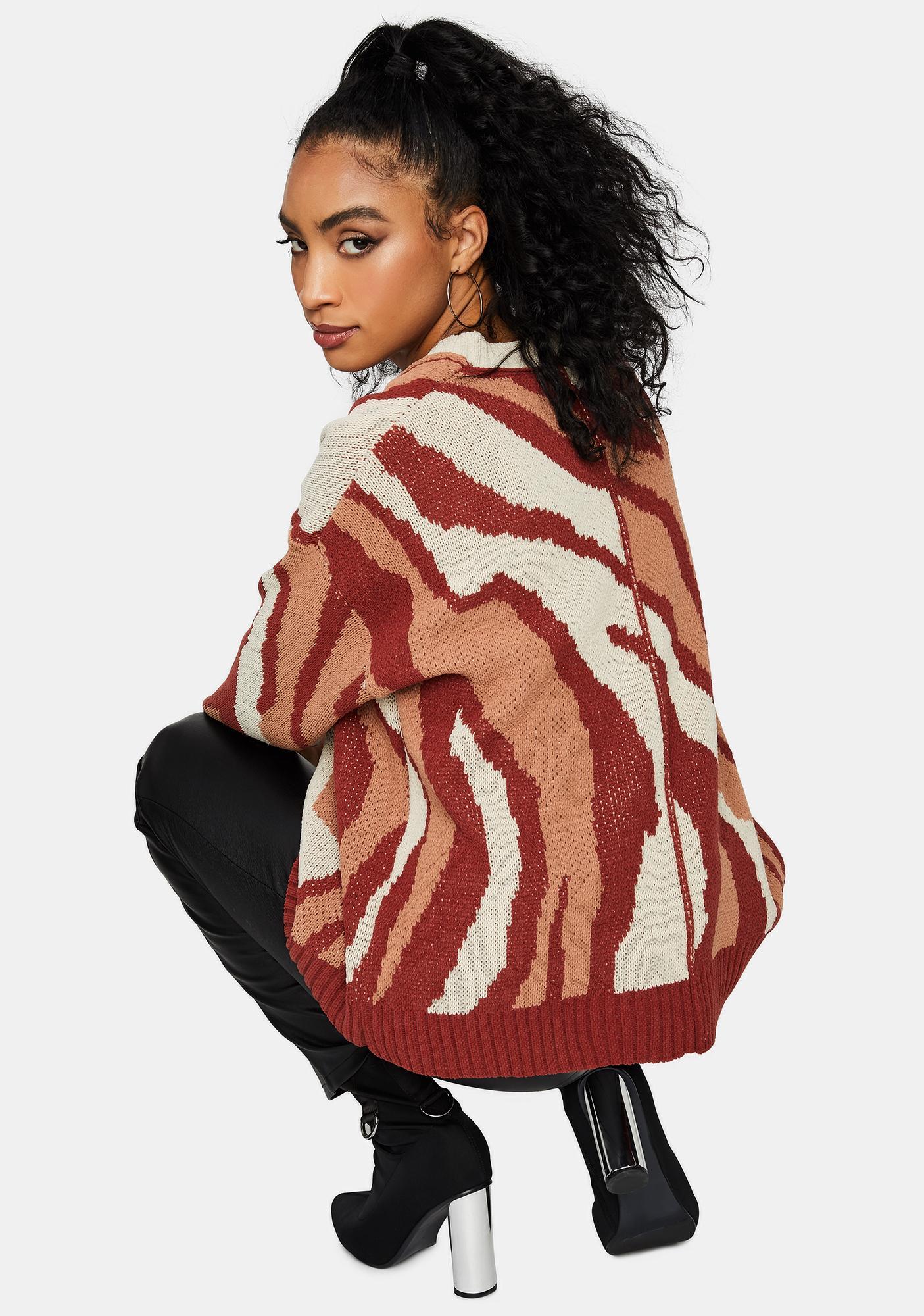 Fierce Feelings Oversized Tiger Sweater