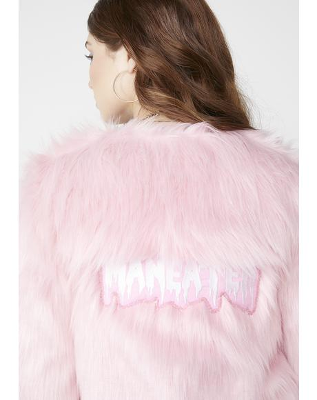 Pink Matter Faux Fur Jacket