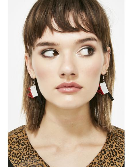 Bloody Mystery Knife Earrings