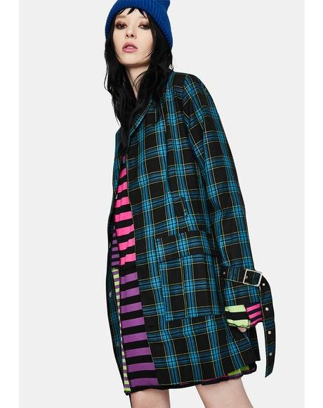 Skool Plaid Blazer Dress