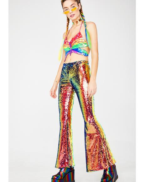 Wannabe Sequin Flares