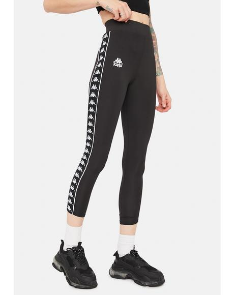 Black 222 Banda Barrio Leggings