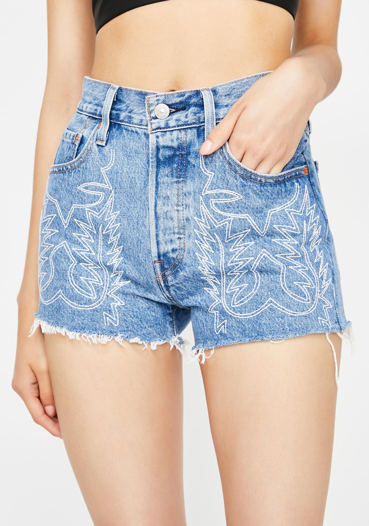 Levis Del Norte 501 High Rise Shorts