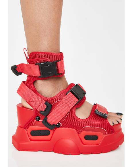 Fire Daily Hustle Platform Sandals