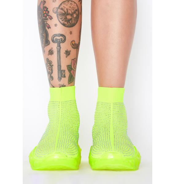 Neon Everything Paid Sock Sneakers