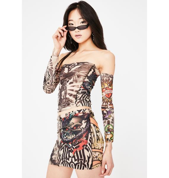 Gypsy Sport Tattoo Stretch Top