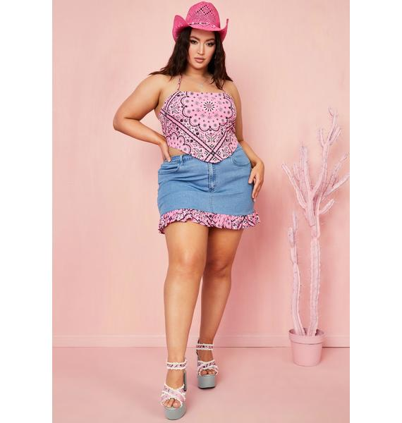 Sugar Thrillz Sweet Candy Bandit Bandana Top