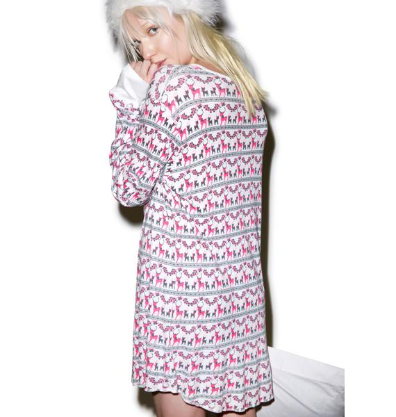 Wildfox Couture Reindeer Snowed-In Sleep Shirt