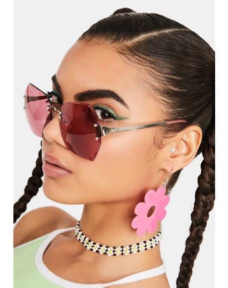 Pink Sweetness Oversized Sunglasses