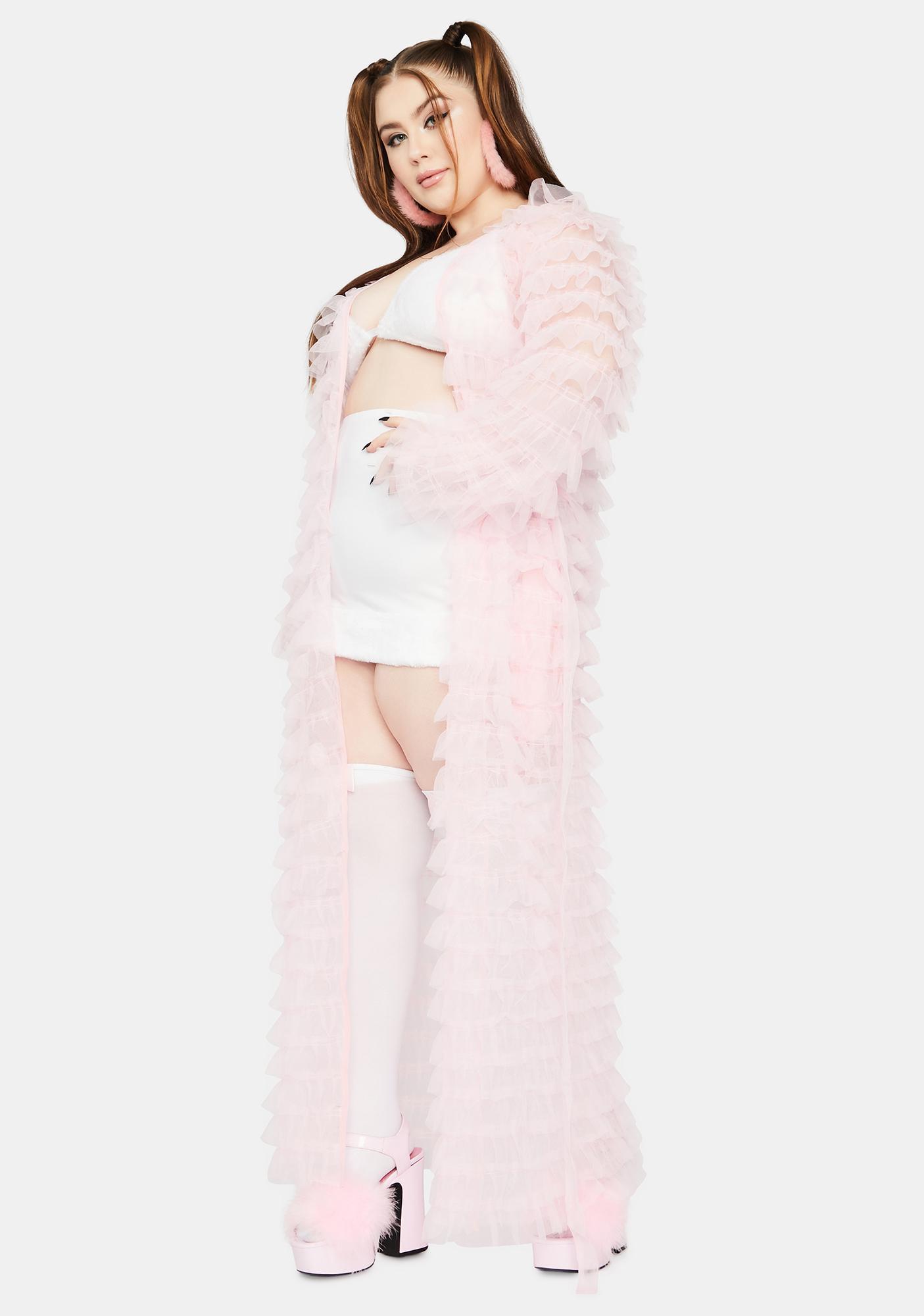 Baby Always Add Some Drama Sheer Robe