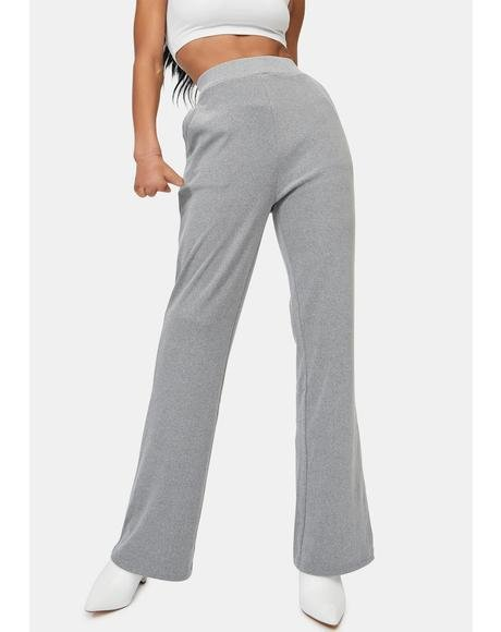 Chrissy Ribbed Flare Pants