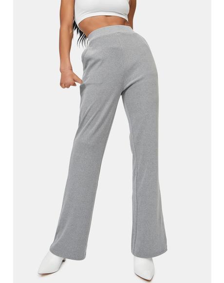 Chrissy Ribbed Flare Pants