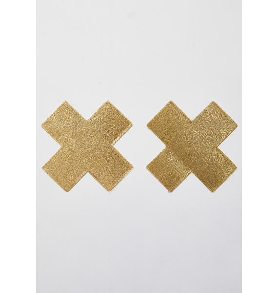 Pastease Gold Cross Pasties