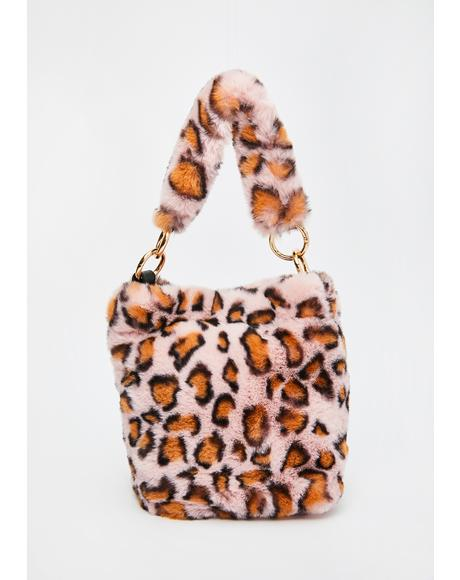 Sweet Purrrfect Possessions Fuzzy Handbag
