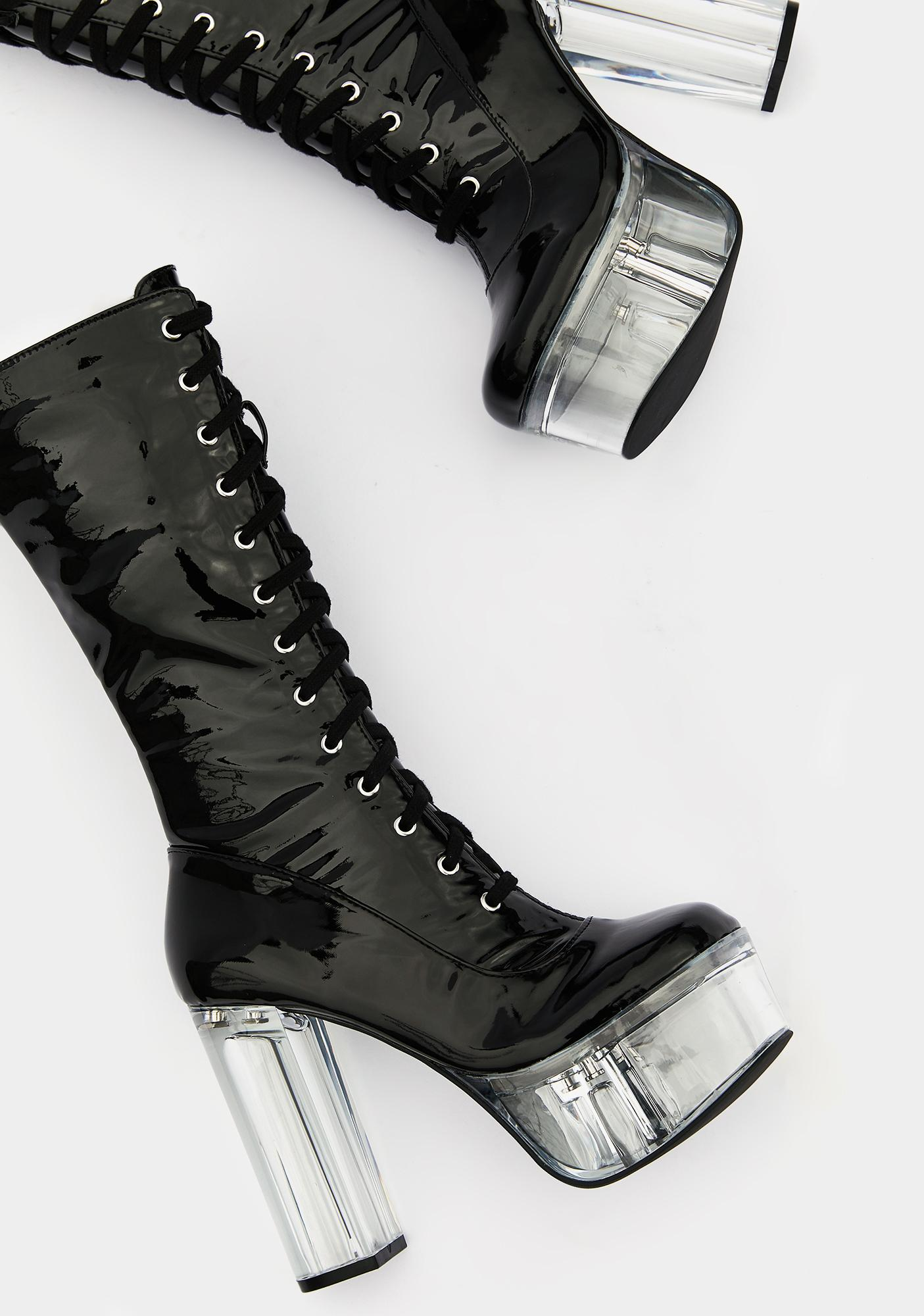 Poster Grl Werk For Myself Lace Up Boots