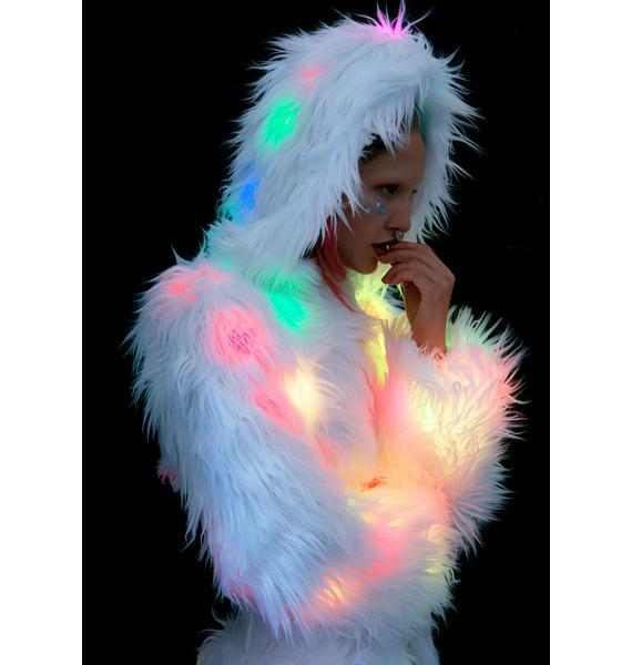 J Valentine Flashing Lights Cincher Coat