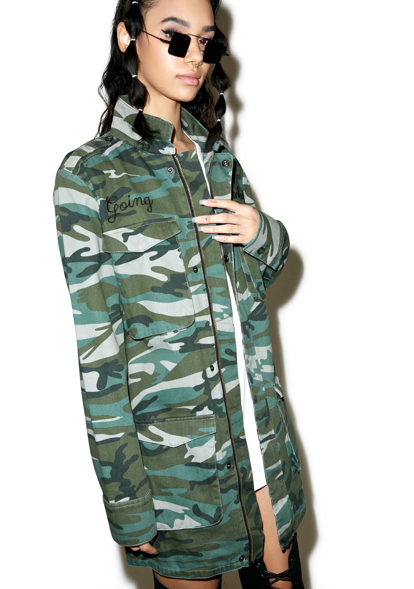 Disturbia FTW Camo Jacket