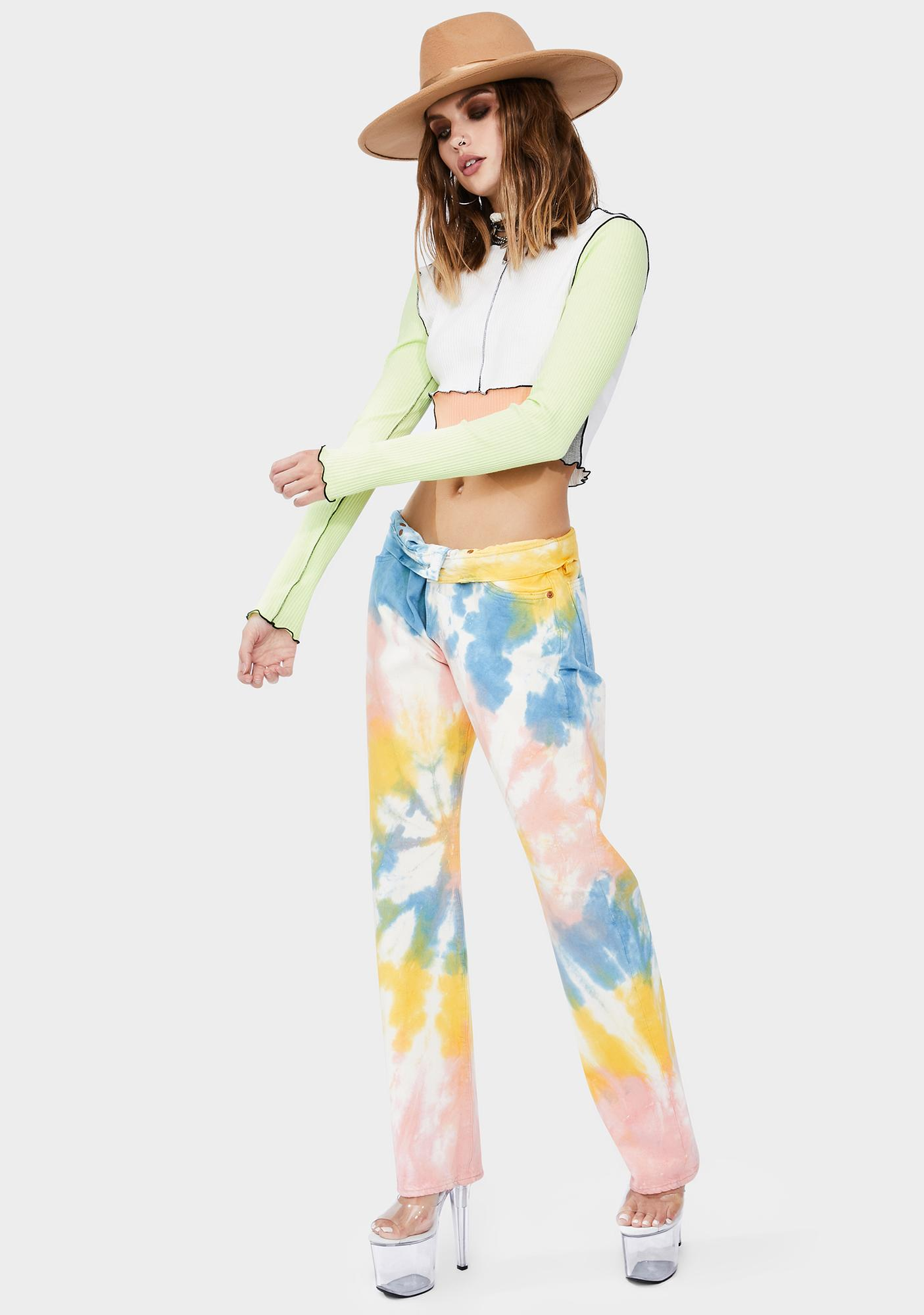 Levis Haight Surfer 501 Tie Dye Straight Denim Jeans