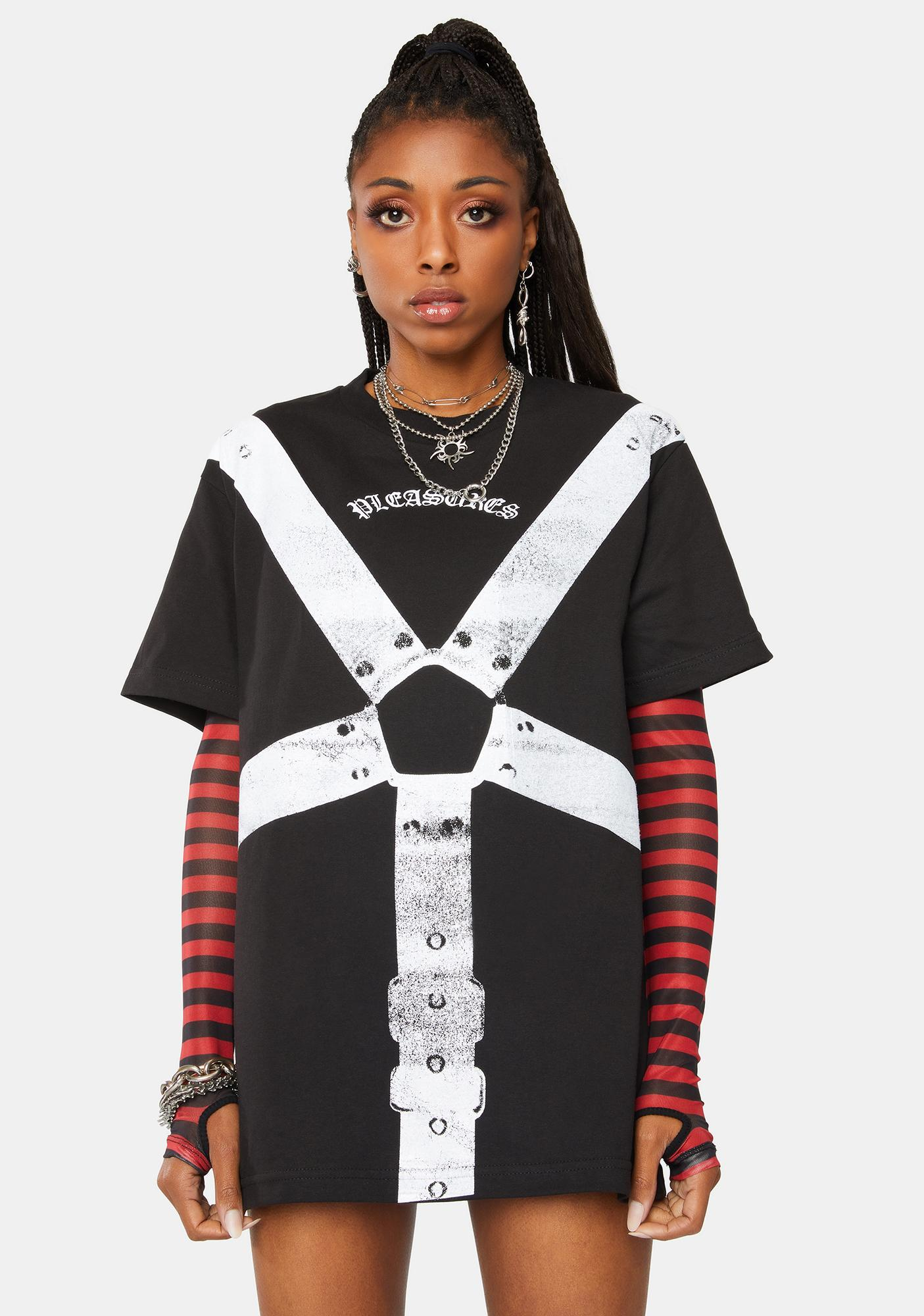 Pleasures Black Harness Graphic Tee