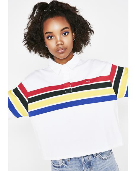 Pure Striped Rugby Top