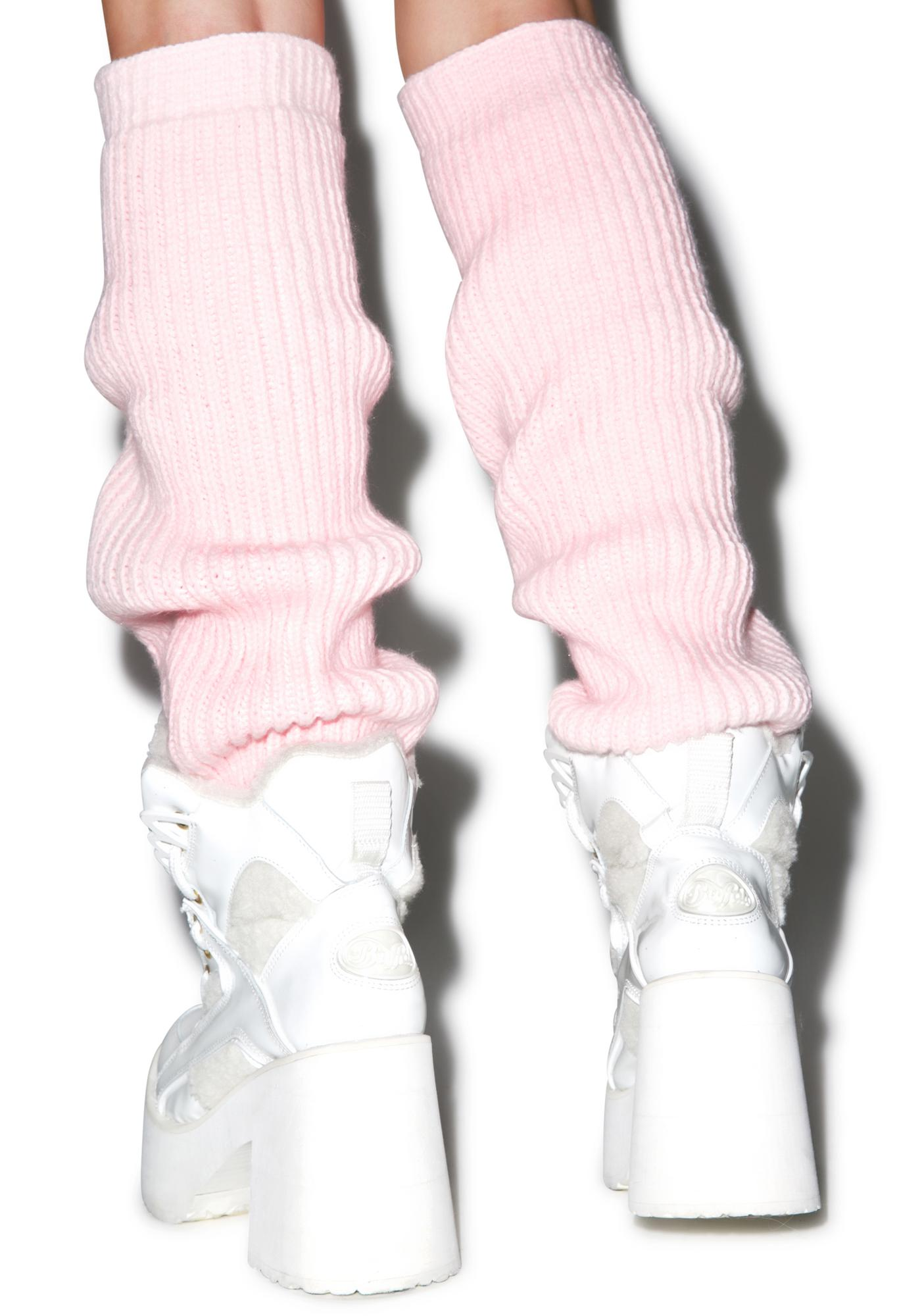 Maria ke Fisherman Fluffy Knit Leg Warmers