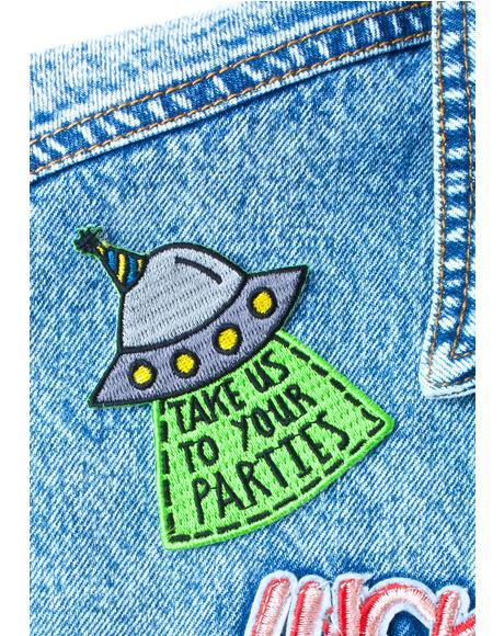 Take Us To Your Parties Patch
