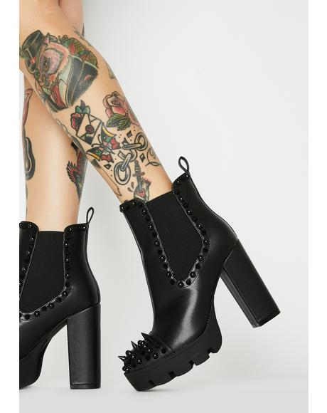 Hellraisin' Hottie Spiked Booties