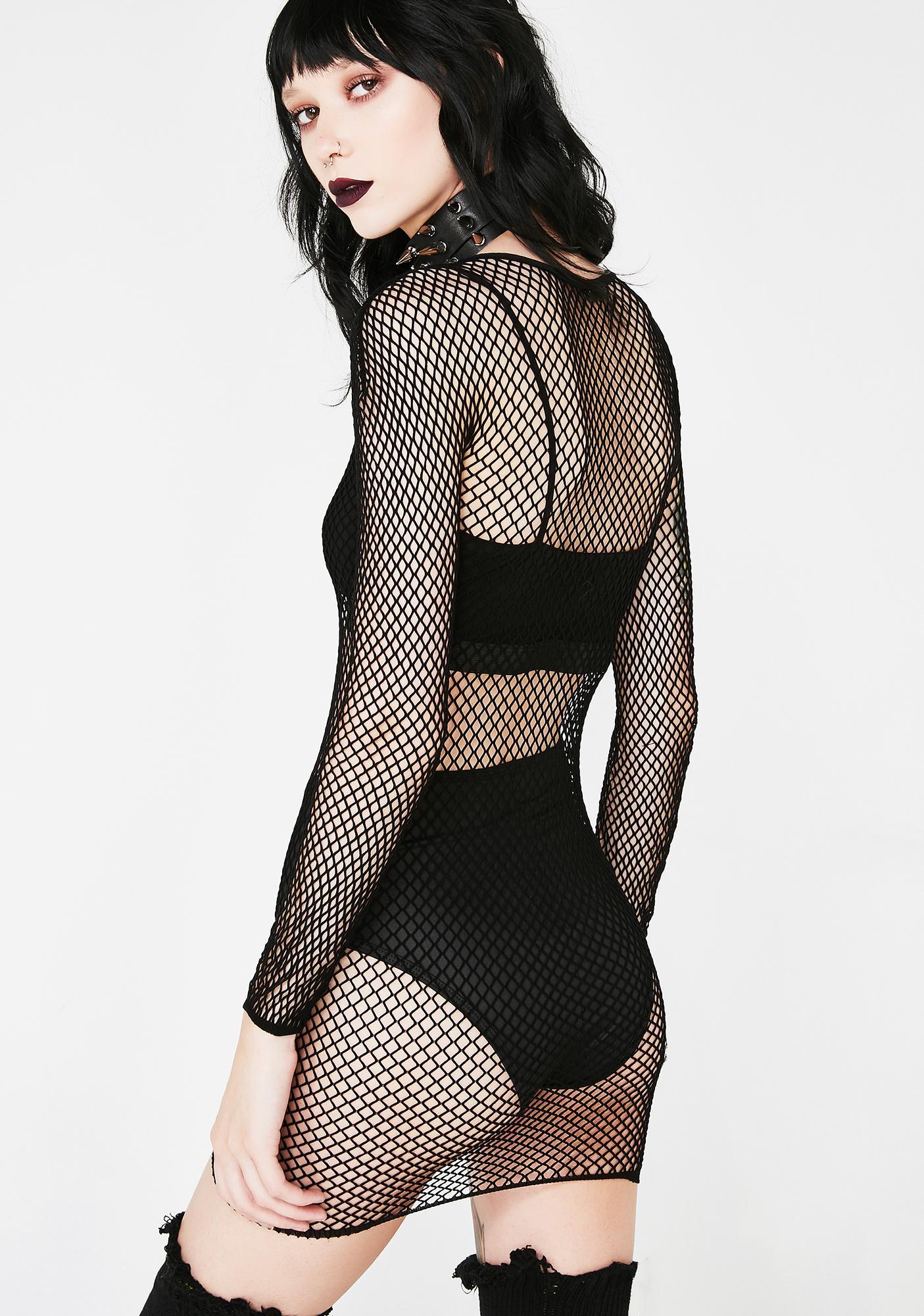 Killstar Nicole Fishnet Bodycon Dress