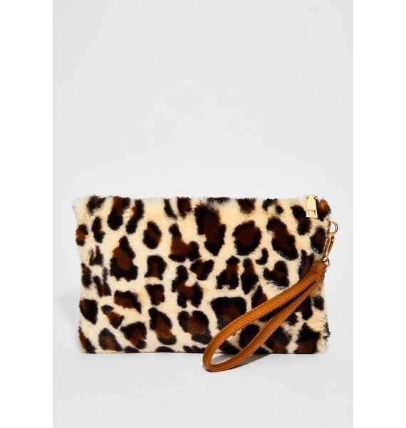 On The Prowl Fuzzy Wristlet