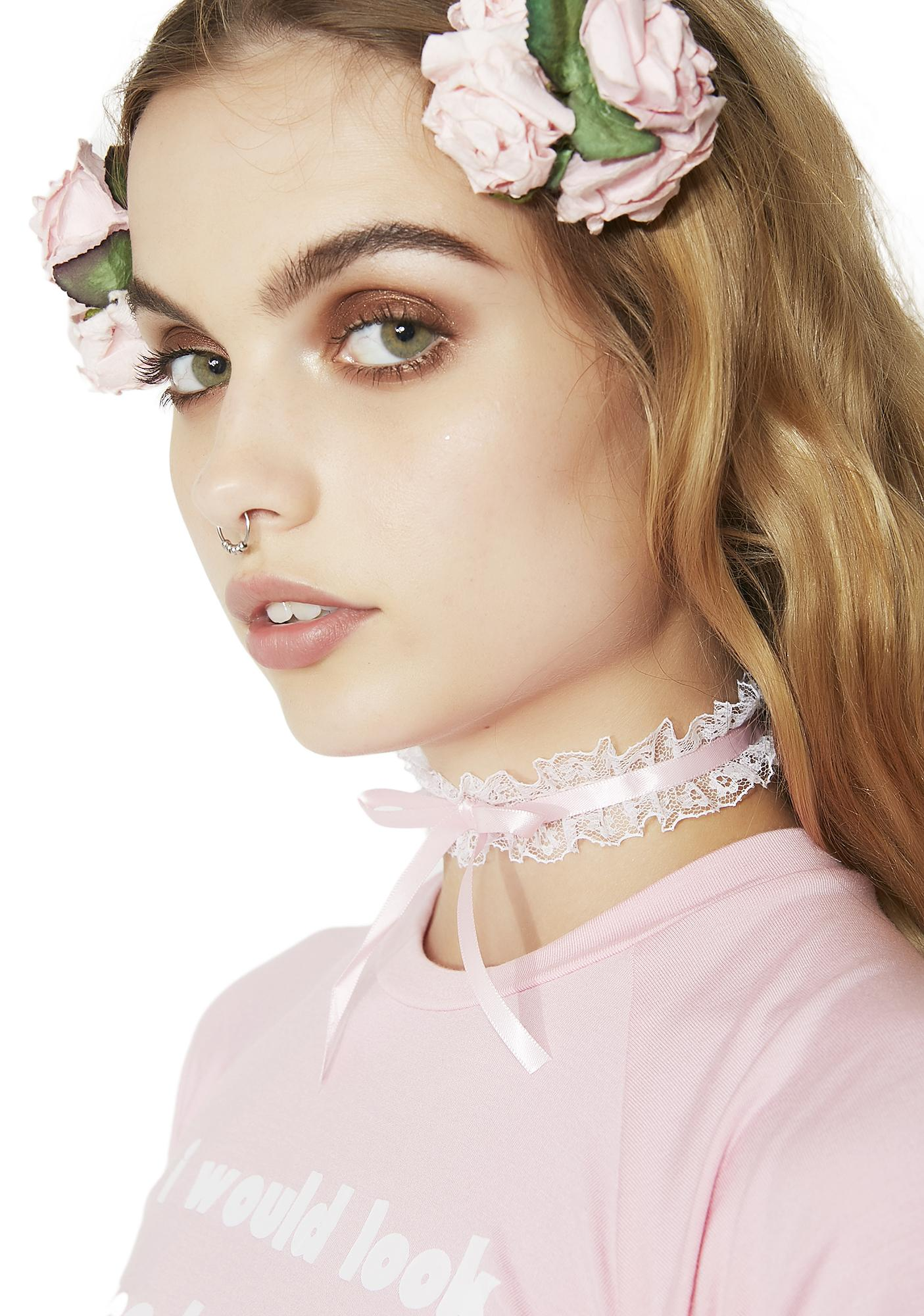 Time For Tea Lace Choker