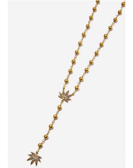 True Religion Leaf Rosary
