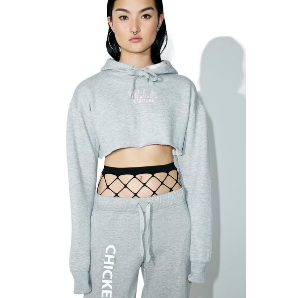 W.I.A Chicken Wings Couture Crop Hoodie