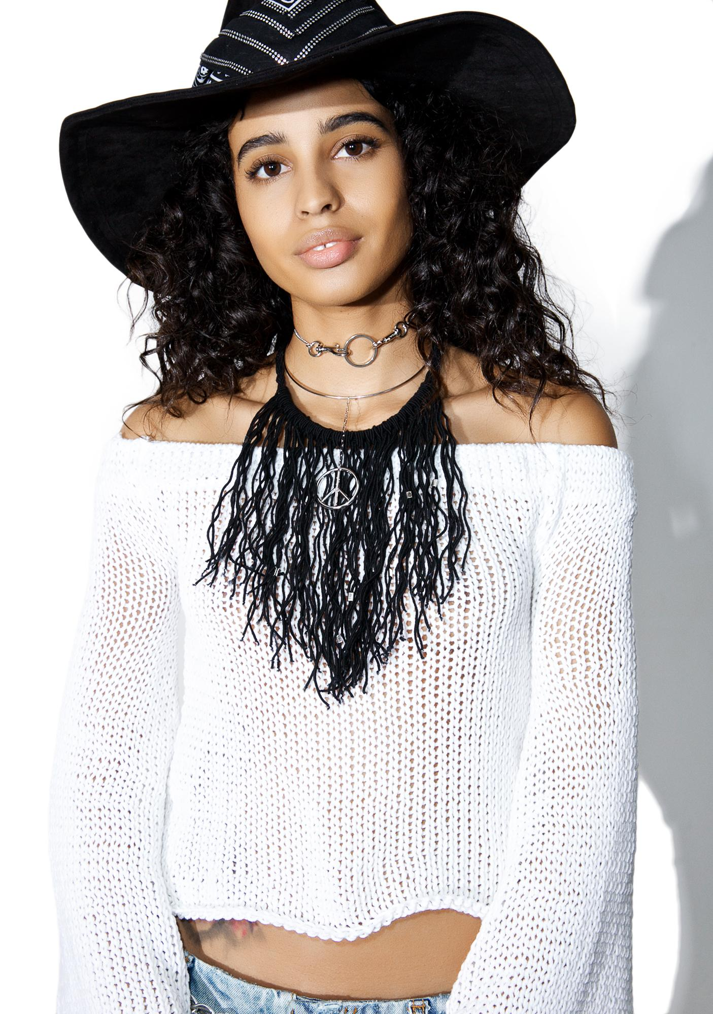 Love And Light The Label Fringin' Choker Necklace