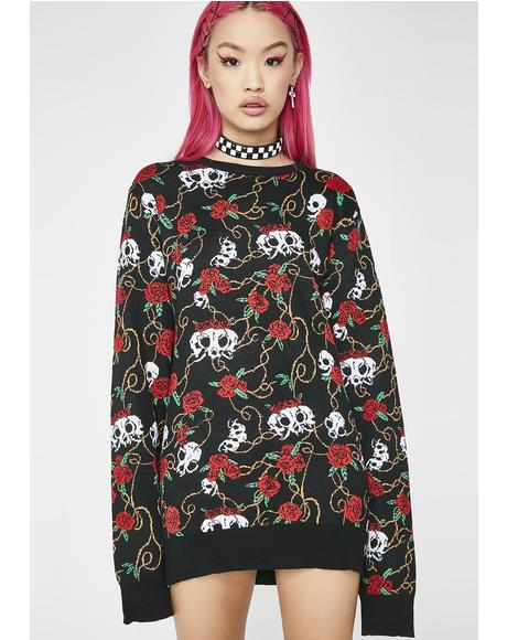 Dead Rose Knit Sweater