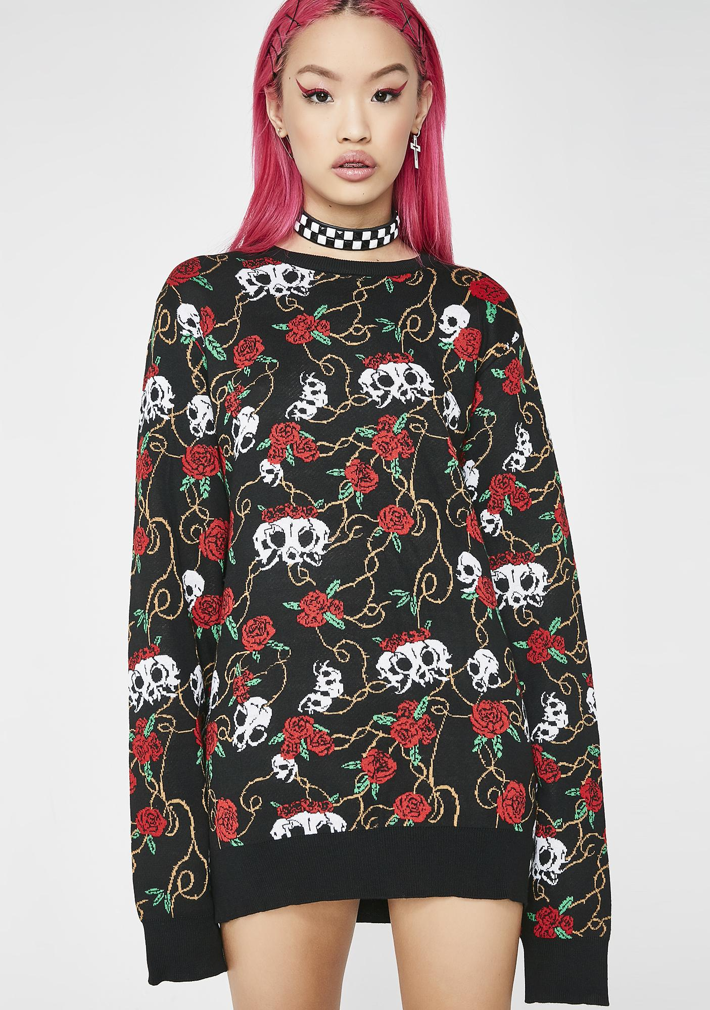 RIPNDIP Dead Rose Knit Sweater