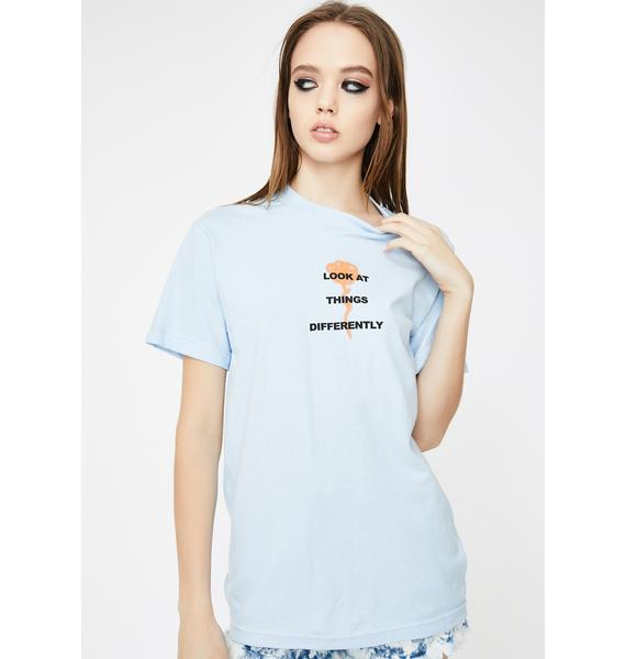 By Samii Ryan Blue Perspective Graphic Tee