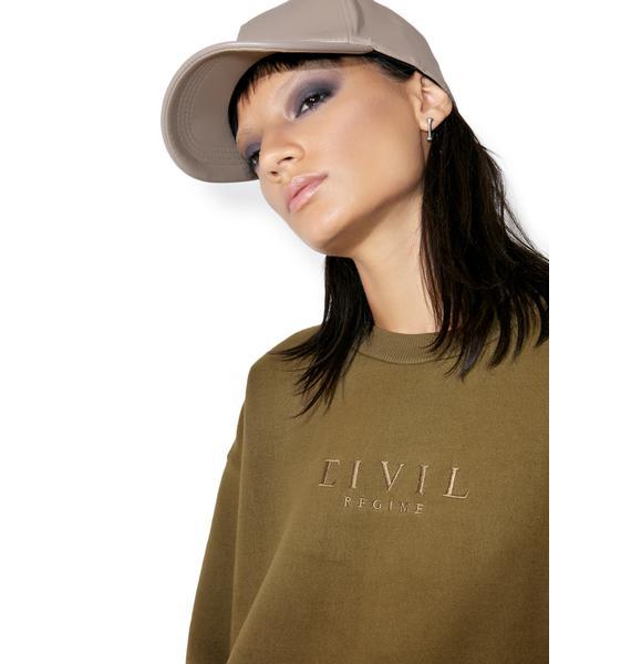 Civil Clothing Embroidered Crewneck Sweatshirt