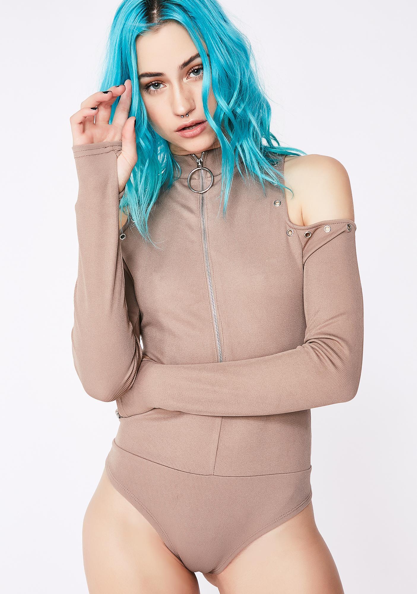 Courtside Cold Shoulder Bodysuit