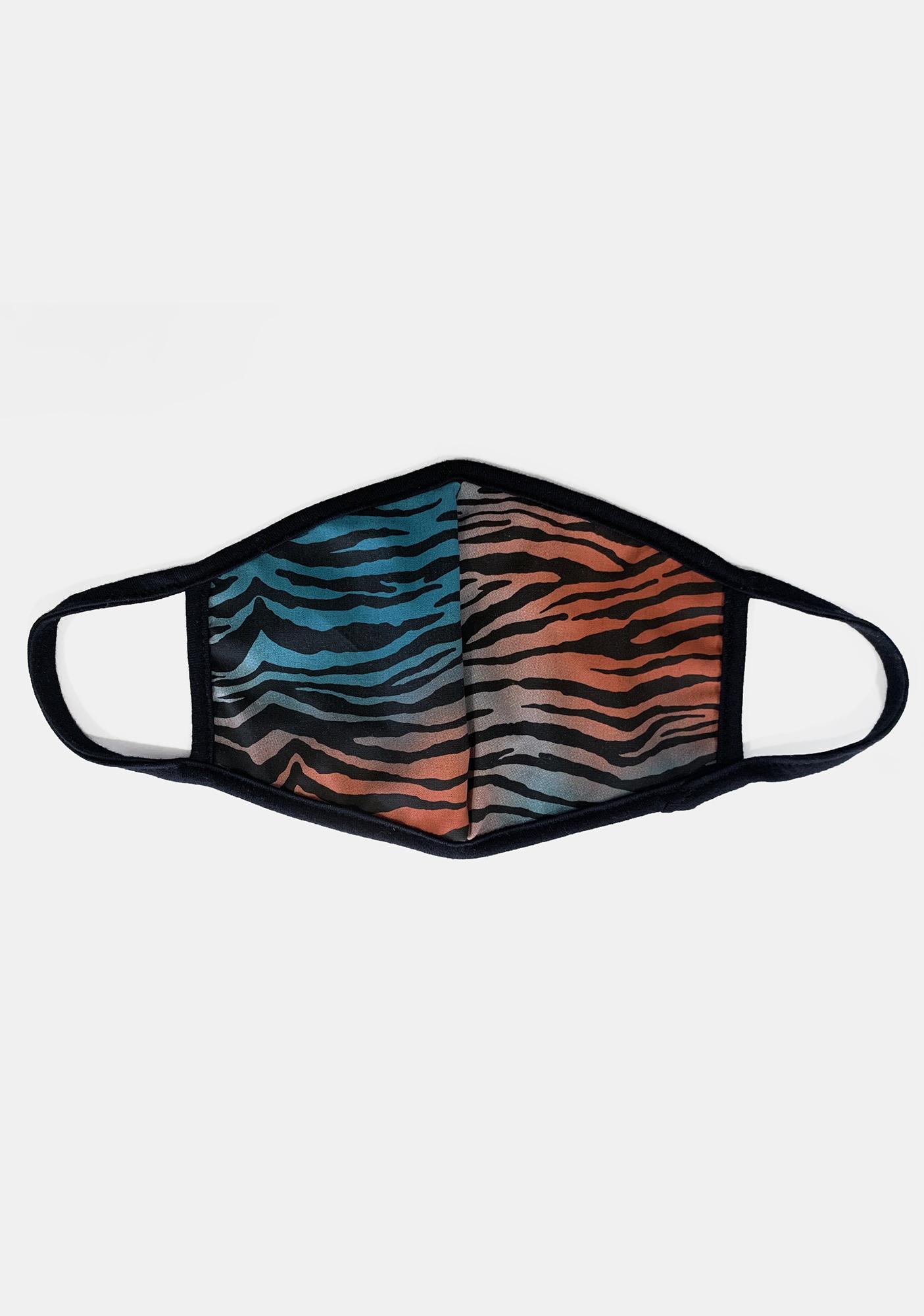 Savage Savanna Zebra Face Mask