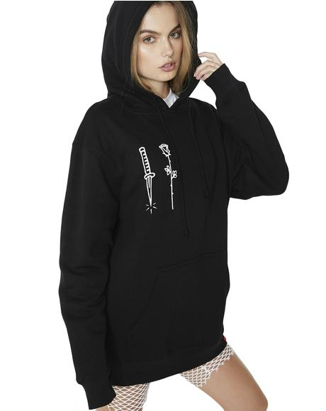 Rose Dagger Pullover Hoodie