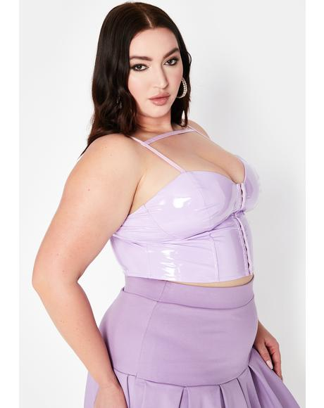 Lilac Lux Sweet Symbol Vinyl Bustier