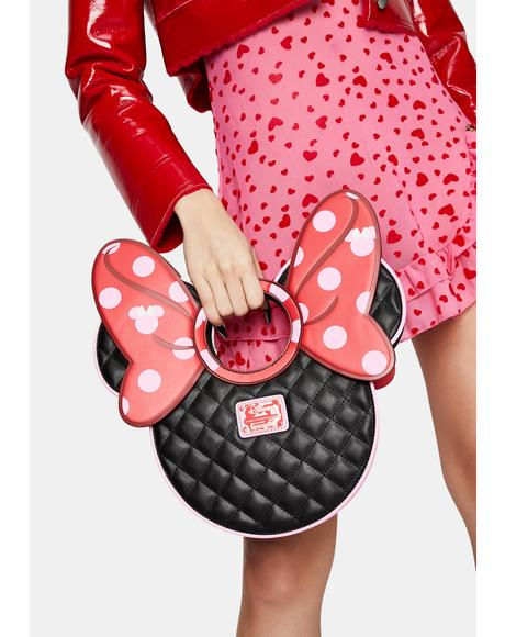 Minnie Mouse Quilted Bow Crossbody Bag