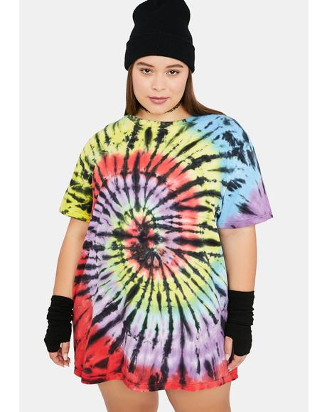 Got Cabin Fever Tie Dye Oversized Tee