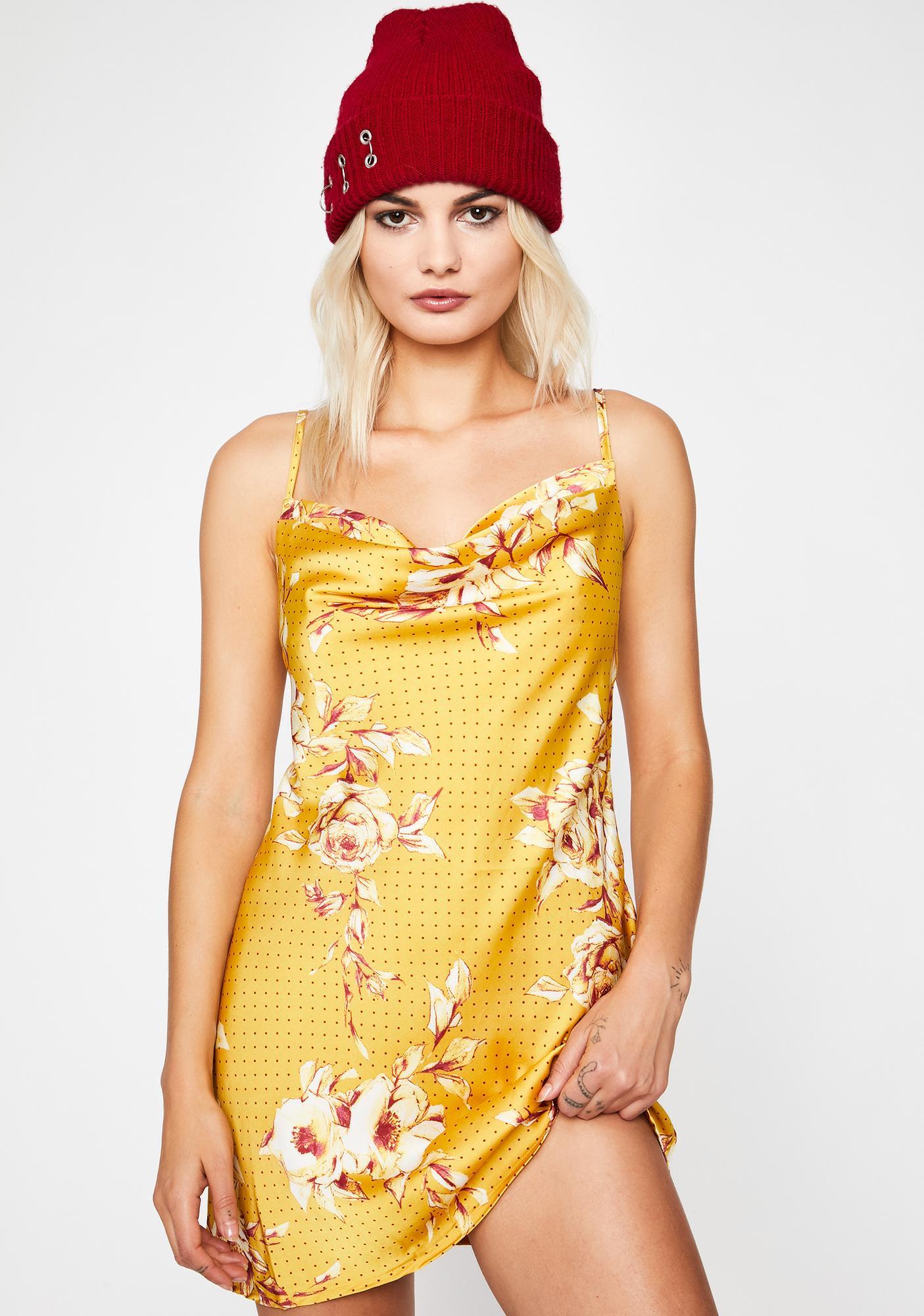Gilded Precise Nature Mini Dress