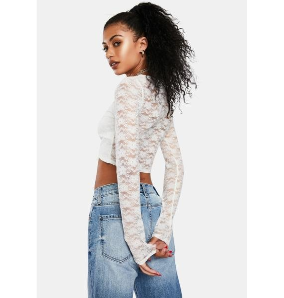 Angel Hot Touch Lace Top