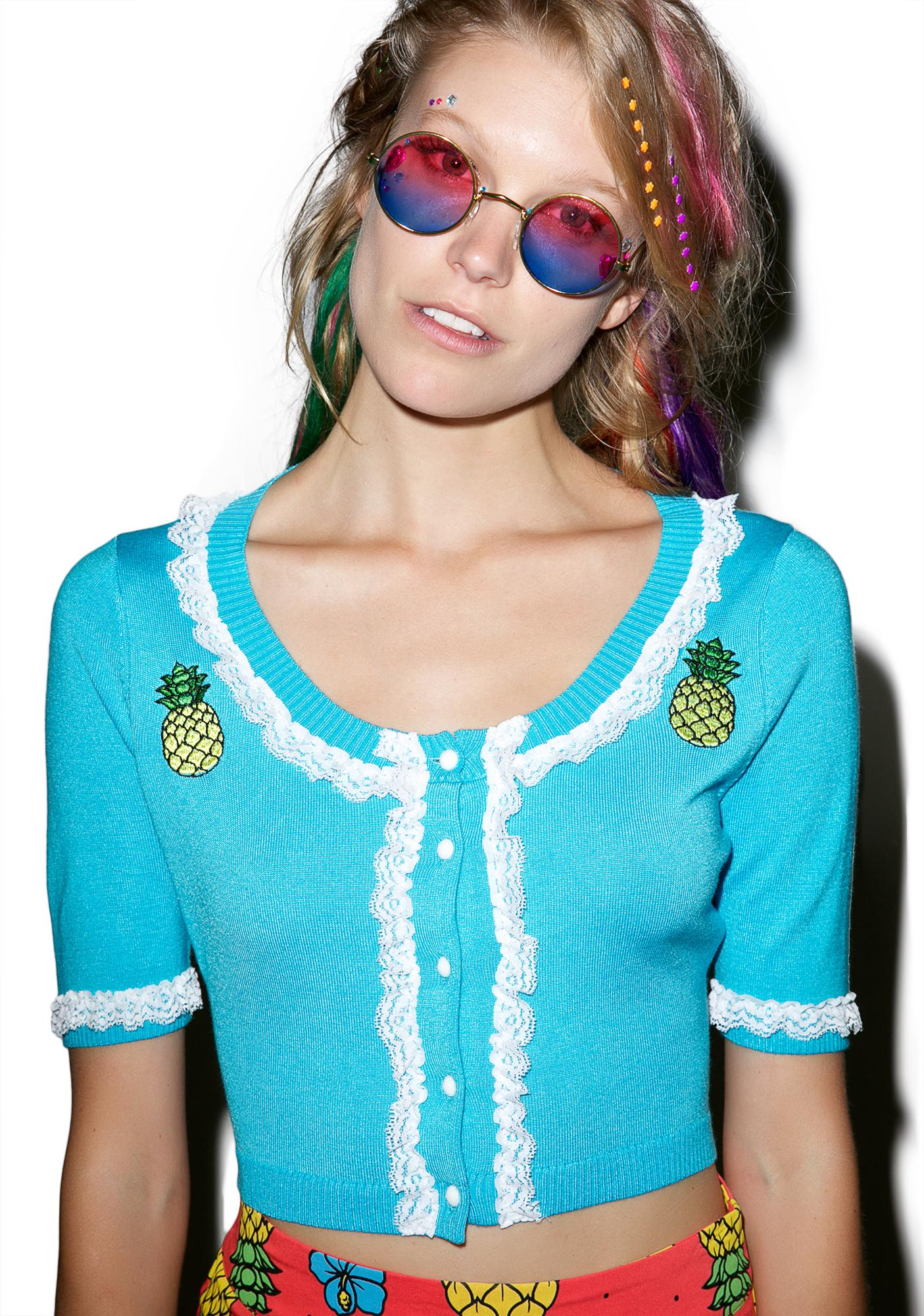 Sourpuss Clothing Bella Pina Colada Cardigan